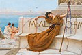 A priestess of Bacchus, by John William Godward.jpg