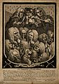 A shield containing a group portrait of various doctors and Wellcome V0006696.jpg