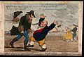 A windy day at Margate; a man accidentally bumping into anot Wellcome V0012071.jpg