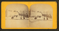 A winter view in Eastport showing people waving from the top of a snow-covered building, from Robert N. Dennis collection of stereoscopic views.png