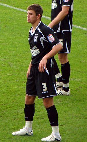 Aaron Cresswell - Cresswell playing for Ipswich Town in 2011