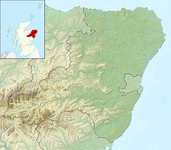 Aberdeenshire UK relief location map