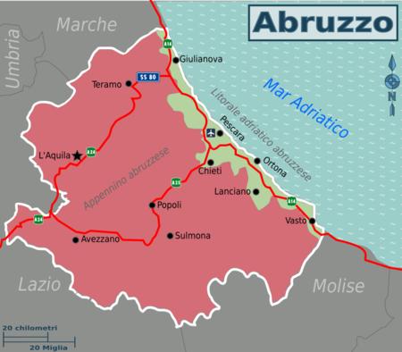 Cartina Turistica Abruzzo.Abruzzo Wikivoyage Guida Turistica Di Viaggio