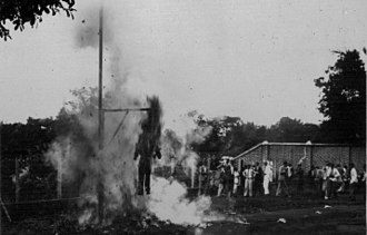 Effigy - Burning of the New Testament figure of Judas Iscariot in effigy in Juiz de Fora, Brazil, 1909