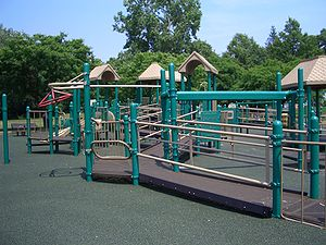 This playground was designed to be accessible ...