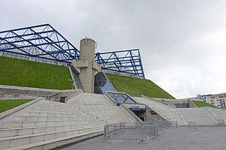 indoor sports arena and concert hall in Paris