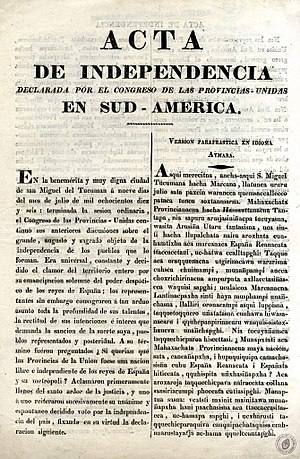 Argentine Declaration of Independence
