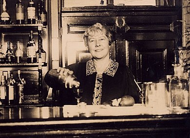 Ada Coleman bartending at the Savoy, c. 1920 Ada Coleman small 20110507-1109.jpg