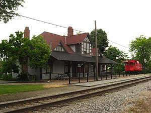 National Register of Historic Places listings in Hardin County, Ohio - Image: Ada Pennsylvania Station and Railroad Park