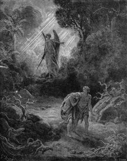 אדם וחוה מגורשים מגן עדן. תחריט מאת גוסטב דורה. ויקפדיה אנצקלופדיה חופשית