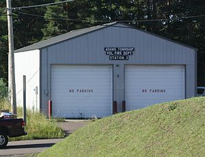 Adams Township, Houghton County, Michigan - Fire station