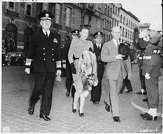 Charles W. Sawyer - Image: Adm. Harold Stark, and Ambassador to Belgium Charles Sawyer and Mrs. Sawyer, walk to the docks in Antwerp, Belgium to... NARA 198786