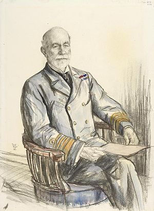 Frederick Hamilton (Royal Navy officer) - 1917 portrait by Francis Dodd