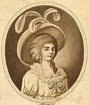 Adriana Ferrarese del Bene - Portrait of Adriana Ferrarese del Bene circa 1785
