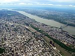 Aerial view of the Bronx, Harlem River, Harlem, Hudson River, George Washington Bridge, 2008-05-10.jpg