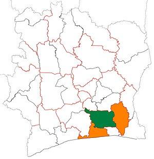 Agnéby-Tiassa - Image: Agnéby Tiassa region locator map Côte d'Ivoire