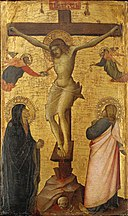 Agnolo di Taddeo Gaddi - The Crucifixion with the Virgin and Saint John - 45.515 - Museum of Fine Arts.jpg