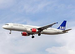 Airbus A321-232 linii lotniczych Scandinavian Airlines System