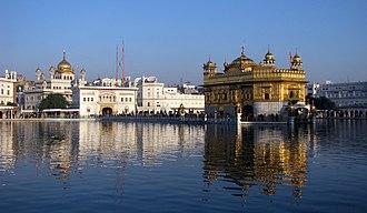 Akal Takht - Akal Takht and Harmandir Sahib, Amritsar, Punjab, India.