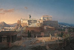 Leo von Klenze: Reconstruction of the Acropolis and Areopagus in Athens