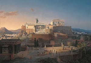 Parthenon - Reconstruction of the Acropolis and Areus Pagus in Athens, Leo von Klenze, 1846