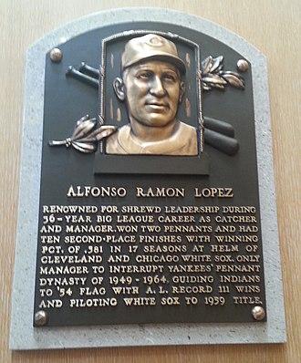 Al López - Al López's plaque at the Baseball Hall of Fame