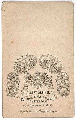 Reclameopdruk Op Achterzijde Carte De Visite Ca 1880