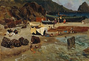 Albert Bierstadt - Fishing Boats at Capri.jpg