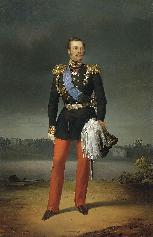Alexander II by E.Botman (1856, Russian museum)