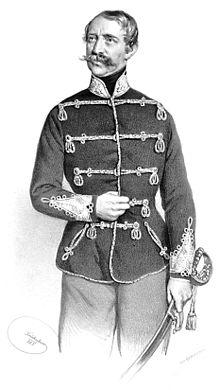 Alexander von Württemberg, Lithographie von Josef Kriehuber, 1853 (Quelle: Wikimedia)