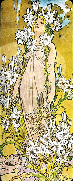 Alfons Mucha - 1898 - The Flowers Lily.jpg