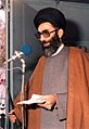 Ali Khamenei in a Tehran's Jumu'ah (Friday Praying) - 1981.jpg