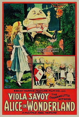 Gus Hill - Poster for the 1915 film of Alice in Wonderland