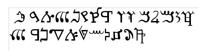 Alphabet samaritain kadosh