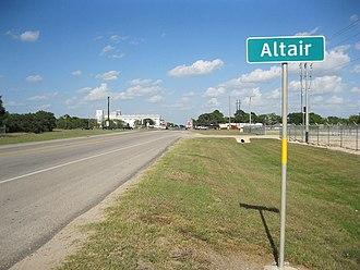 Altair, Texas - Image: Altair TX Sign