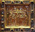 Altare di s. ambrogio, 824-859 ca., fronte dei maestri delle storie di cristo, 14 crocifissione.jpg
