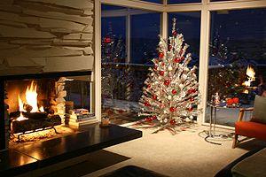 Artificial Christmas tree - An aluminium Christmas tree