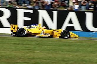Álvaro Barba - Barba driving for Draco Racing in the Donington Park round of the 2007 Formula Renault 3.5 Series season.