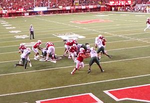 Ameer Abdullah - Ameer Abdullah running for a touchdown in the fourth quarter during the Nebraska against Miami on September 9, 2014.