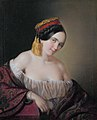 An aristocratic lady dressed in a traditional costume from Pontus, by Aristides Oeconomo.jpg