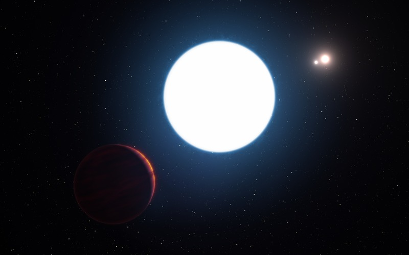 An artist's impression of planet in the HD 131399 system