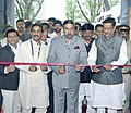 Anand Sharma and the Chief Minister Maharashtra, Shri Prithviraj Chavan inaugurated the International Exhibition on Technical Textiles at Bombay Exhibition Centre, in Mumbai on August 25, 2011.jpg