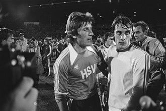 Gilbert Van Binst - Manfred Kaltz and Gilbert Van Binst (right) in 1977