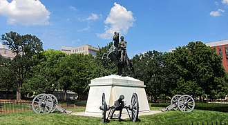 Lafayette Square Historic District, Washington, D.C. - Equestrian sculpture of Andrew Jackson in Lafayette Square
