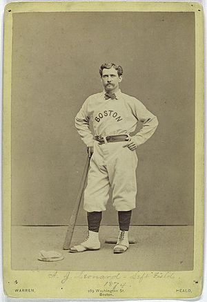 English: Andy Leonard, Boston Red Stockings, 1...