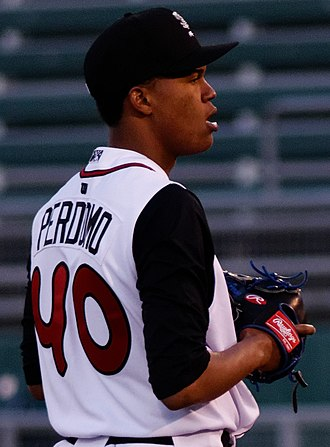 Milwaukee Brewers minor league players - Perdomo with the Lansing Lugnuts in 2016