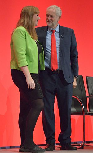 Angela Rayner - Rayner with Jeremy Corbyn at the 2016 Labour Party conference