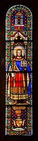 Angoulême 16 Église-St-Martial Vitrail St Edmond 2014.jpg