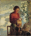 Anna Ancher - Two little girls being taught how to sew - Google Art Project.jpg