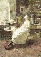 Portrait de Annie Toorop-Hall à Lissadell, dans le Surrey